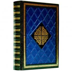 """Книга """"Антология мысли в афоризмах"""" в кожаном переплете ручной работы"""